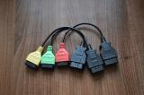 Комплект преходници за MultiEcuScan - 3бр. 16pin OBD-F към OBD-M